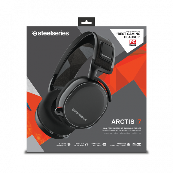 SteelSeries Arctis 7 Black -2019 Edition Gaming Headset