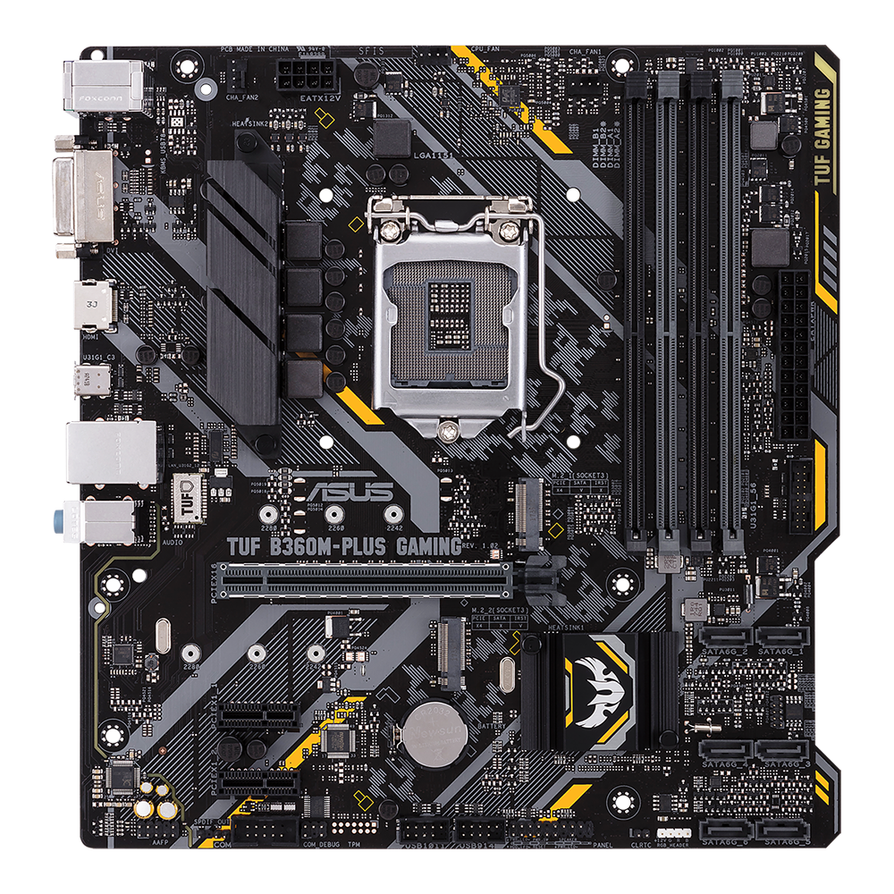 ASUS TUF B360M-PLUS GAMING Bundkort