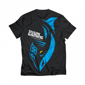Shark Gaming t-shirt - Sort - XS