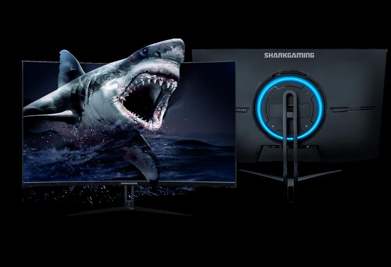 """Ægte Gaming Skærm Shark Gaming SG27165 27"""" 165Hz Curved Skærm"""