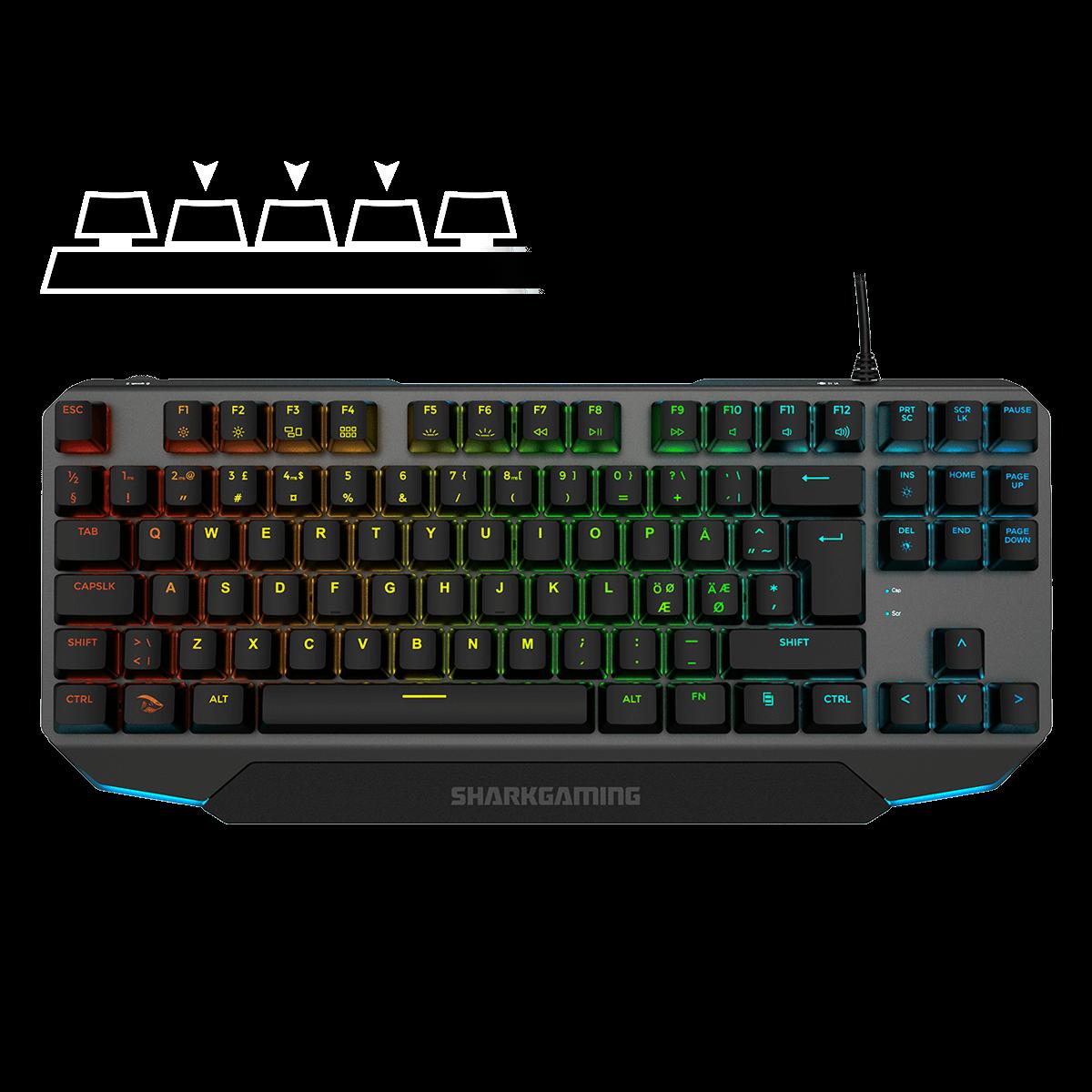 Teknologi Shark Venator TKL Gaming Tastatur