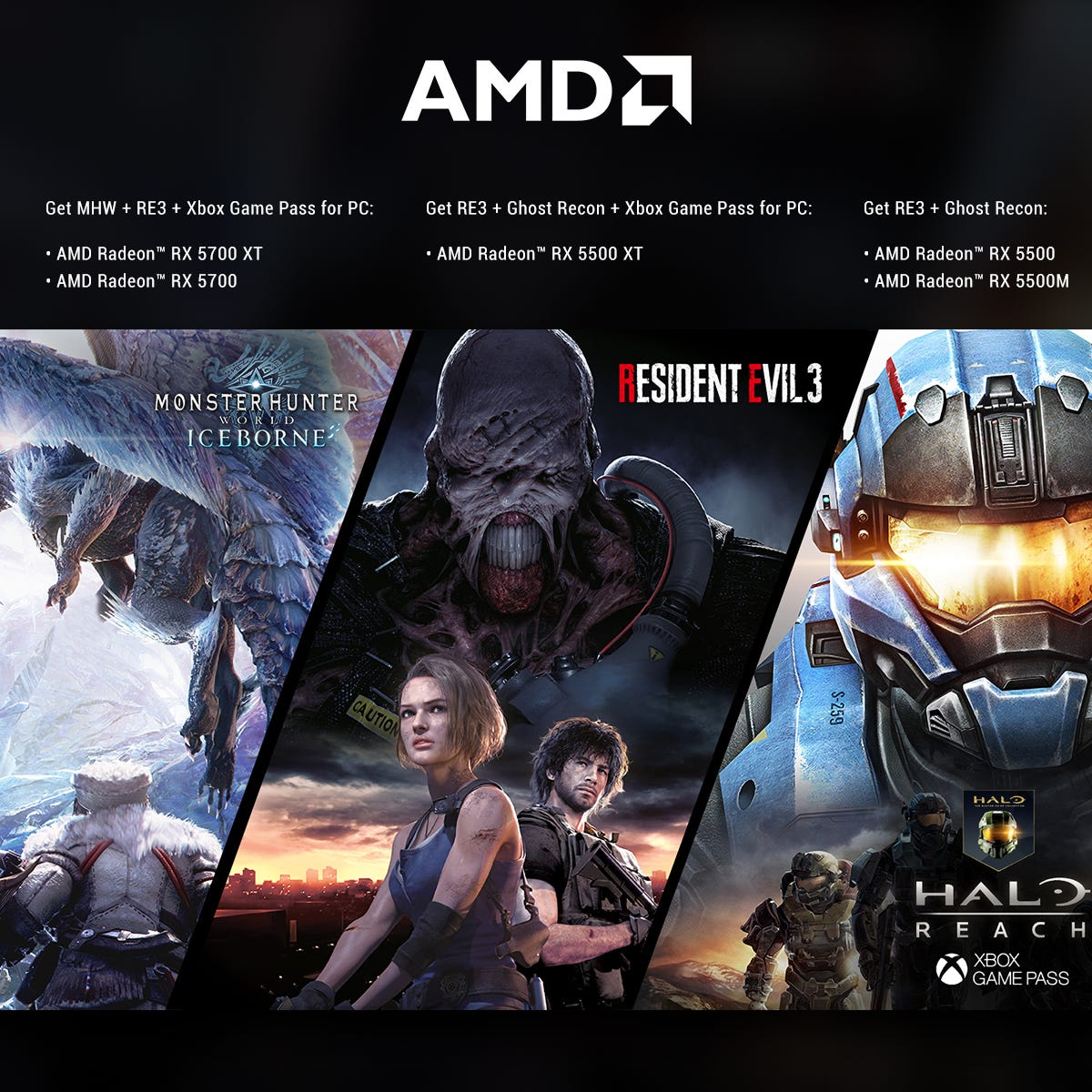 AMD Radeon Raise The Game Bundle