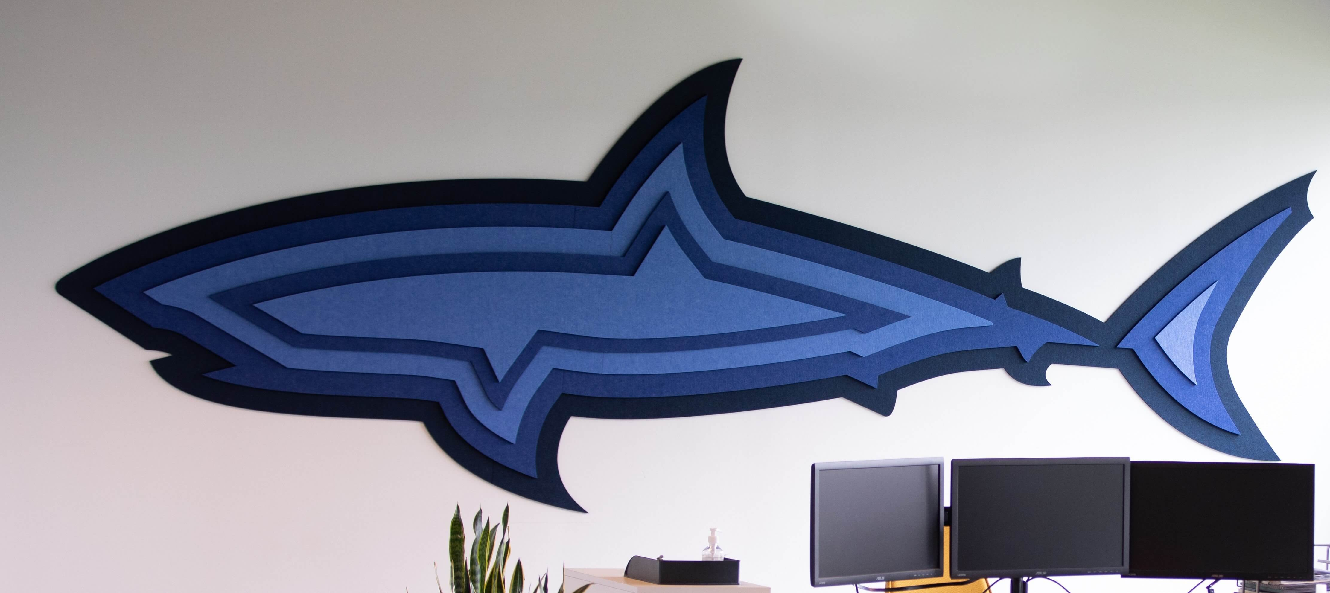 Shark on the wall in our new headquarters