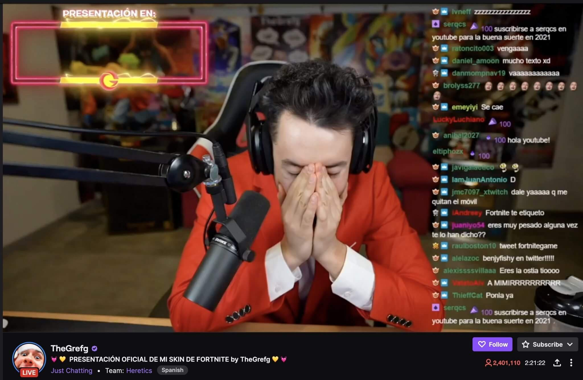Grefg 2.4 Mil Viewers on Twitch