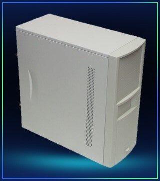 Gammel computer i box