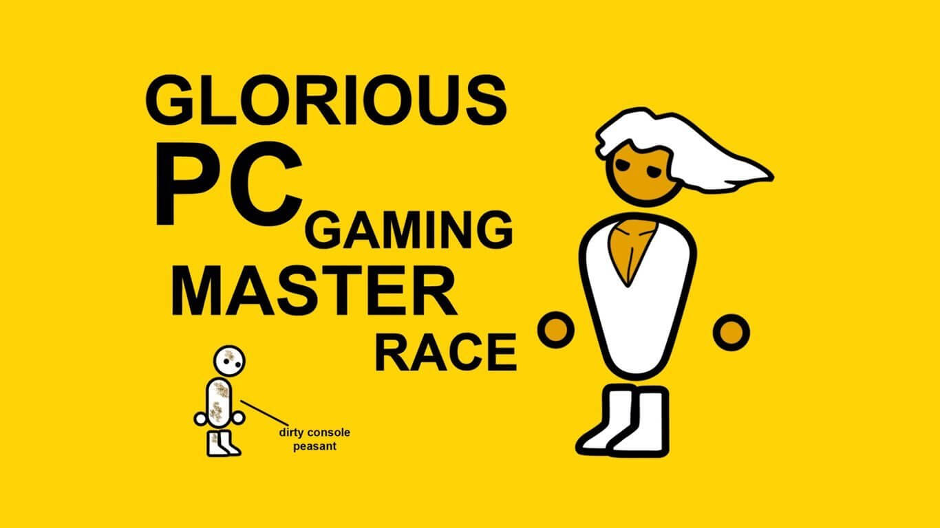 Glorious PC master race med figur