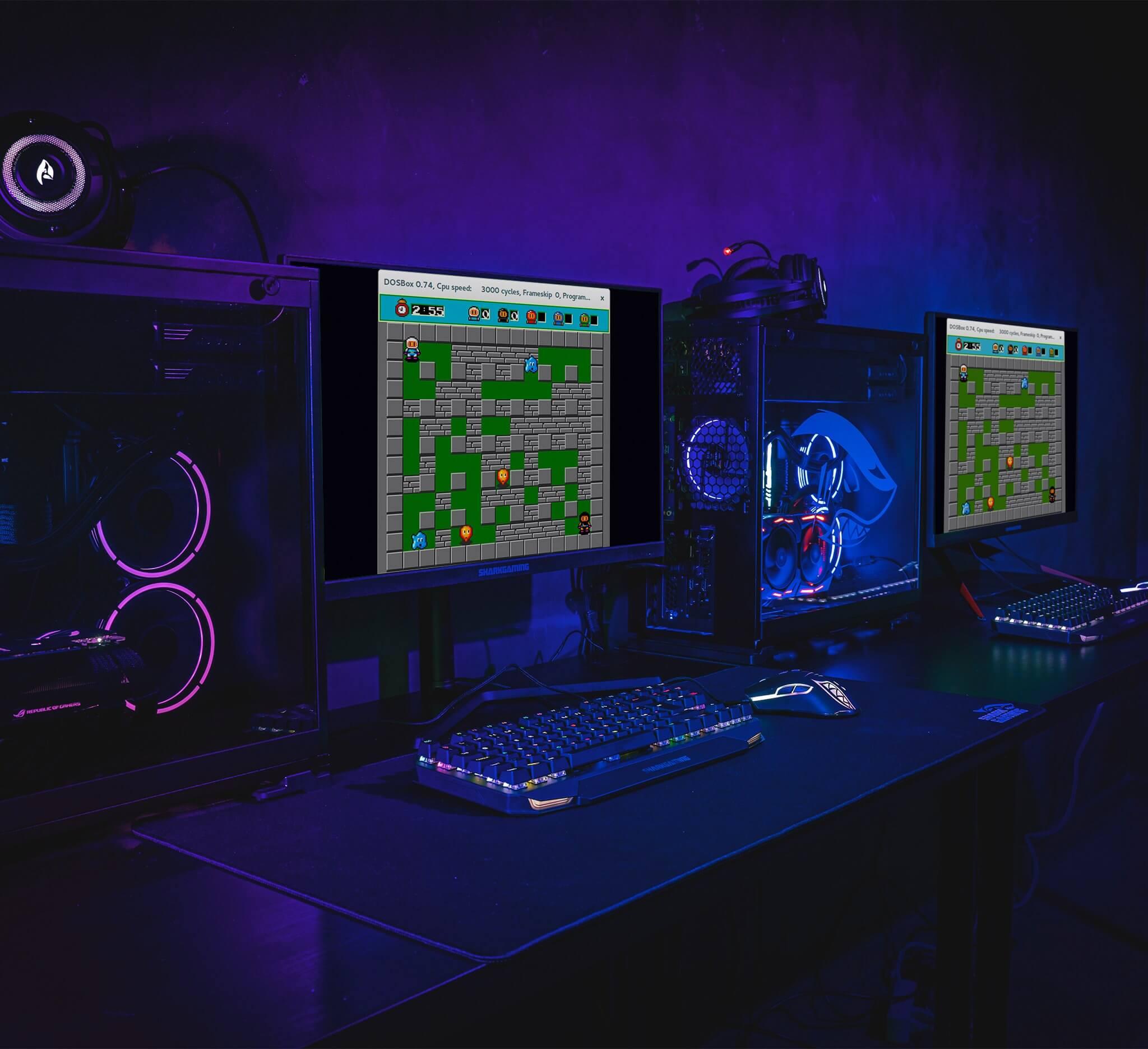 Bomberman på high-end Shark Gaming Computere