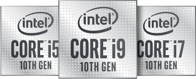 Intel Core i5, i7, i9 10th gen.